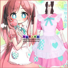 Anime Axis Powers Hetalia Lolita Sweet Pink Maid Dress Cosplay Costume Princess