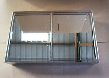 Stainless Steel 80cm x 50cmDouble Mirror Door Wall Cabinet - Damaged