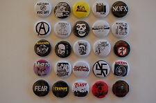 "Punk Rock 1"" Button Pin Set Punk Music Lot of 25 (LSB6)"