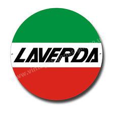 "LAVERDA MOTORCYCLES ROUND METAL SIGN.11""INCH DIAMETER.CLASSIC ITALIAN MOTORCYCLE"