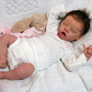 "17"" Lifelike Reborn Baby Dolls Vinyl Full Silicone Body Newborn Girl Gifts Dolls"