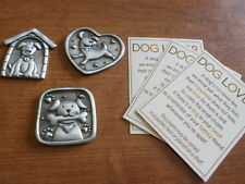 Ganz Dog House Dog Lover Puppy Lot of 3 Pocket Tokens Charms Good Luck Piece