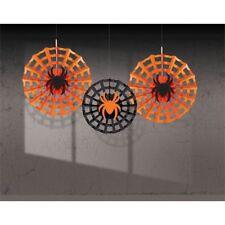 Amscan-Decorazione del ventilatore SPIDERWEB Web/SPIDER -3 Halloween-GRATIS P&P