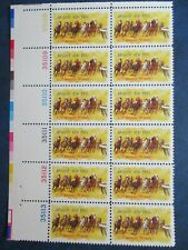 New listing Horse Racing plate block of 12 #1528
