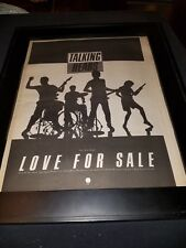 Talking Heads Love For Sale Rare Original Radio Promo Poster Ad Framed!