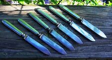 Silver Fruit Knives Rogers Bros c1880-1890 Set of 6 Made in USA