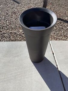 Mayne Creston Tall Planter - Black open box