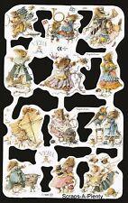 Die Cut Scrap Mamelok English Embossed  - Vera Mouse (Marjolein Bastin) 1777