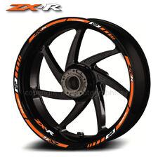 ZX-R ZX10R motorcycle wheel decals rim stickers stripes ZX6R ZX9R zxr orange