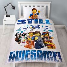 LEGO MOVIE 2 ACTION STILL AWESOME SINGLE DUVET COVER SET - 2 IN 1 DESIGN