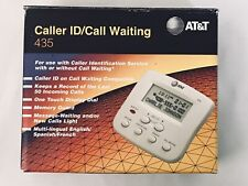 AT&T CALLER ID W/ VISUAL CALL WAITING 435- NEW/OPEN BOX COMPLETE W/ MANUAL