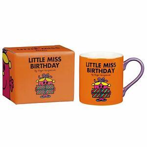 "3x Mr Men and Little Miss ""Little Miss Birthday"" Mug , Orange In Box 350ml"