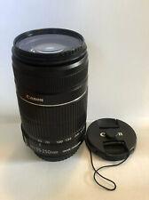 Canon EF-S 55-250mm f/4-5.6 IS Lens Telephoto Zoom Lens W/ UV Filter DSLR