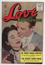 ACE  LOVE EXPERIENCES #36  1956  PERIODICAL HOUSE  SILVER AGE ROMANCE