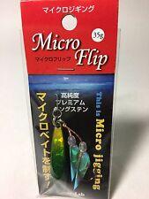 Gear Lab Micro Flip 35g Micro Jigging Premium tungsten Metal Jig Green