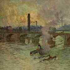 A4 Photo Claus Emile 1849 1924 The Studio 1917 Waterloo Bridge London Print Post