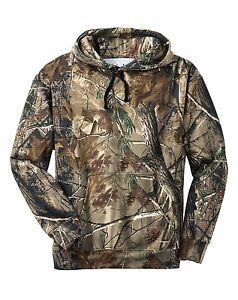 Russell Outdoors Mens Hunting Hooded Sweatshirt Realtree AP Camo Hoodie S M L XL