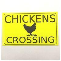 Chickens Crossing Sign Hen Chicken Wall Plaque Coop Backyard Garden Rooster