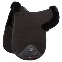 LeMieux Merino+ Half Lined DRESSAGE NUMNAH Pro Lambswool Luxury Black Full