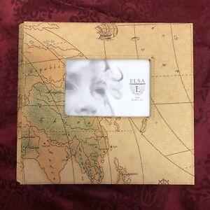 Elsa L Map Travel Photo Album 4x6 (HOLD 200 PHOTOS) FAST SHIPPING!