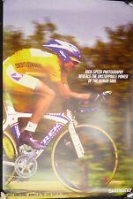 """Lance Armstrong Poster Shimano Dura Ace 24x36"""" 2000 Tour de France NOS"""