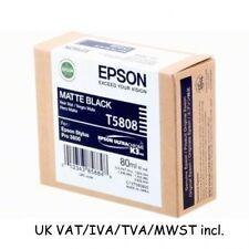 PRO 3800 3880 MATTE NERO T5808 EPSON ORIGINALE CARTUCCIA di inchiostro originale