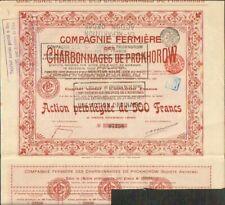 CHARBONNAGES DE PROKHOROW 1909 (RUSSIE) (D)