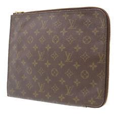 LOUIS VUITTON Poche Documents Briefcase 28 Monogram Clutch M53457 Auth #LL602 Y