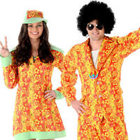 Groovy Hippies Adult Fancy Dress 1960s 60s 1970s 70s Funky Hippy Costumes New