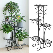 Indoor Outdoor Multiple Flower Pot Holder Shelf Plant Stander Flower Pots Holder Plant Storage Holder for Patio Garden Corner Balcony Living Room Tingberoo 6 Tier 7 Potted Metal Plant Stand White