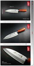 "Handmade VG10 Chinese Chicken Slicer Carving Knife 6"" Kitchen Ware Cutlery"
