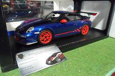 PORSCHE 911 (997) GT3 RS 3.8 Bleu de 2010 au 1/18 AUTOart 78144 voiture auto art