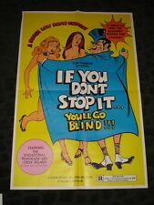 If You Don't Stop It You'll Go Blind folded movie promo poster Adult Film