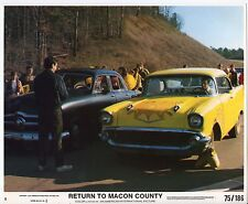 1957 CHEVROLET BEL AIR/1949 FORD CUSTOM orig movie publicity photo DRAG RACING