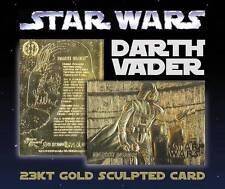 Star Wars Darth Vader 23Kt Gold Card Sculptured Limited Edition #/10,000 *Bogo*