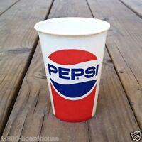 4 Original PEPSI COLA SODA Wax Cup 1960s Unused Old Factory Stock NOS