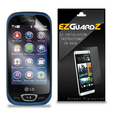 4X EZguardz LCD Screen Protector Skin Cover HD 4X For LG Extravert 2 (Clear)