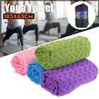 Fitness Yoga Mat Cover Towel Blanket Non-Slip Pilates Travel Exercise Gym Sport