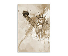 90x60cm PAUL SINUS Splash Art Gemälde Kunstbild Freiheitsstatue