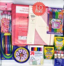 Girls School Supplies Bundle Package Back To School Crayons Markers Pencils
