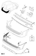GENUINE Vauxhall Corsa C Rear Bumper Right Centre Holder Guide / Rail 24407955