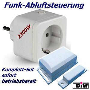 Funk Abluftsteuerung DFS => 2300W Komplett mit High-Tech- Fensterkontaktschalter