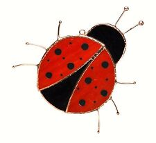 Lady Bug Stained Glass Suncatcher