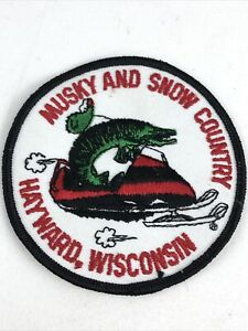 Vintage Musky & Snow Country Hayward Wisconsin Snowmobile Patch