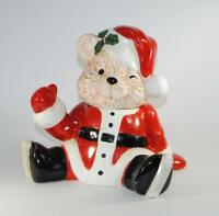 Vintage Santa Cookie Jar Santa Bear Musical Cookie Jar 1990