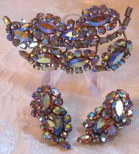 Sherman Jewels of Elegance - Signed Matching Set of LARGE Brooch & Earrings