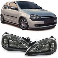 Klarglas Scheinwerfer schwarz - Paar für Opel Corsa C 00-06