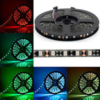 IP65/Non Waterproof 5M 16.4Ft 5050 SMD 300 LEDs LED Strip Light Black PCB USCC