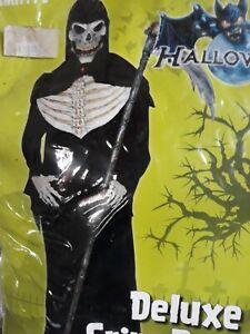 Kostüm Grim Reaper de Luxe Gr M 48 50 Halloween Horror Motto Toter Sensenmann