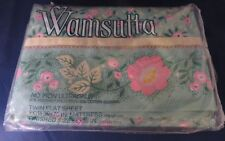 "Vintage Wamsutta Ultracale ""Confection"" Floral Twin Flat Sheet- In Package"